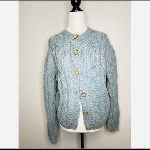 Carraigdonn Wool Handknit Wool Aran Irish Sweater